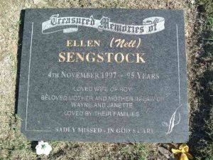 Sengstock, Ellen May (Nell) - Nee Pioch