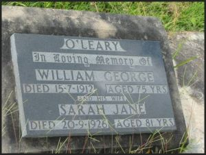 O'Leary, William George and Sarah jane (nee Elder)