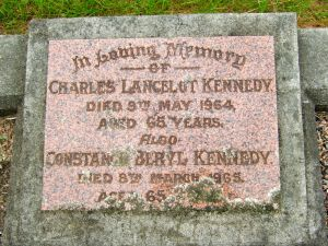 Kennedy, Charles Lancelot and Constance Beryl