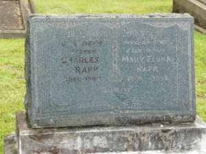 Rapp, Charles and Mary Flora (nee Lamont or Irvine)